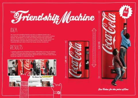 "Board Coca-Cola ""The Friendship Machine"""